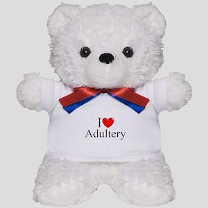 """""""I Love (Heart) Adultery"""" Teddy Bear"""
