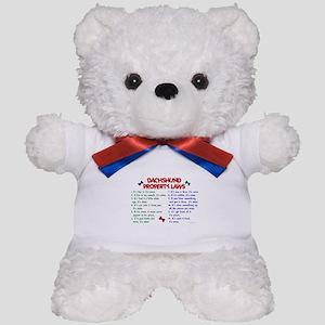 Dachshund Property Laws 2 Teddy Bear