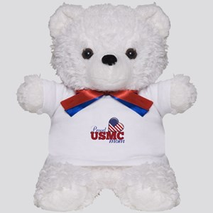 Proud USMC Mom - Teddy Bear