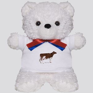 Red and White Holstein Cow Teddy Bear