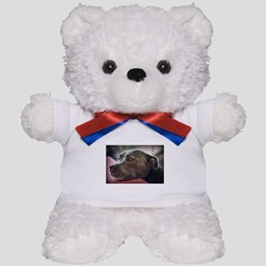 Loving Pitbull Eyes Teddy Bear
