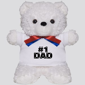 #1 Dad Teddy Bear