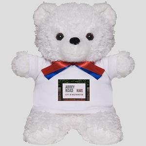 Abbey Road street sign Teddy Bear