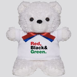 Red, Black and Green. Teddy Bear