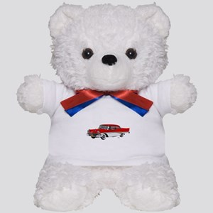 1958 Ford Fairlane 500 Red & White Teddy Bear