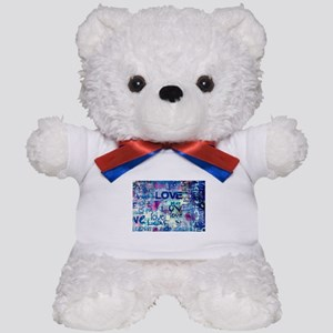 Abstract Love Painting Teddy Bear