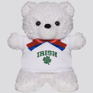 Worn Irish Shamrock Teddy Bear