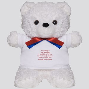 if-I-could-give-you-one-thing-opt-red Teddy Bear