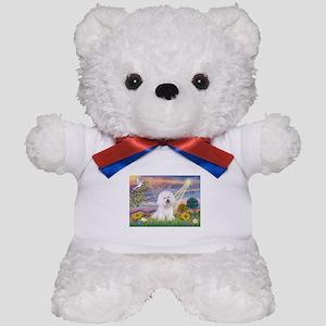 Cloud Angel & Bichon Teddy Bear