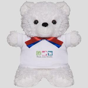 Peace, Love, Doodles Teddy Bear