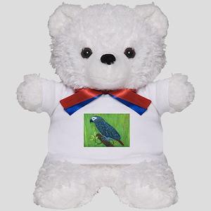 African Grey Parrot Teddy Bear