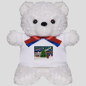 Xmas Magic & Airedale (#1) Teddy Bear