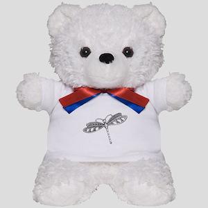Metallic Silver Dragonfly Teddy Bear
