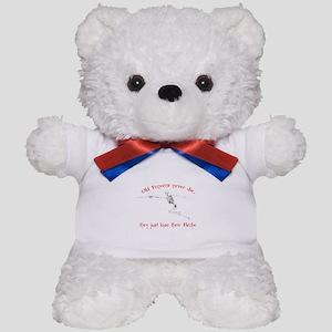 Old Fencers Never Die Teddy Bear