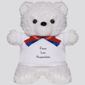 Peace, Love and Accupuncture Teddy Bear