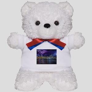 Spacey Chicago Skyline Teddy Bear