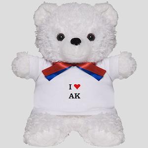 I Heart Alaska Teddy Bear