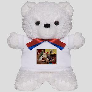 Santa and his Airedale Teddy Bear