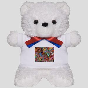 Abstract Painting Teddy Bear