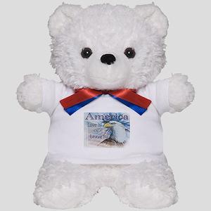 America Love It or Leave It Teddy Bear
