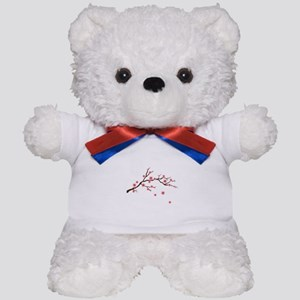 Cherry Blossom Flowers Branch Teddy Bear