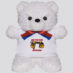 PERSONALIZED Tool Belt Graphic Teddy Bear