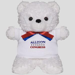 ALLISON for congress Teddy Bear