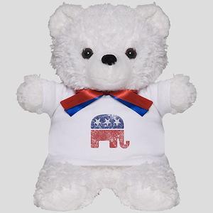 Worn Republican Elephant Teddy Bear