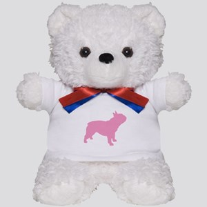 Pink French Bulldog Teddy Bear