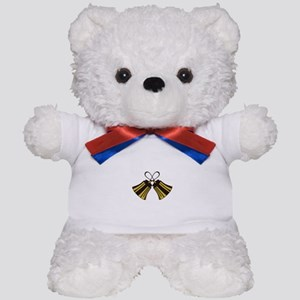 Crossed Handbells Teddy Bear