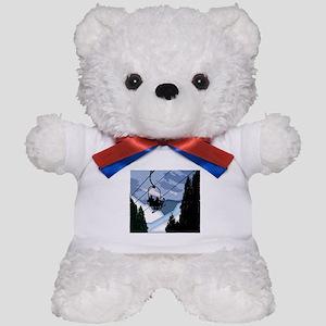 Chairlift Full of Skiers Teddy Bear