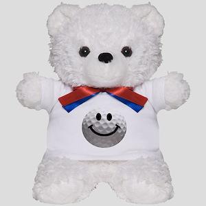 Golf Ball Smiley Teddy Bear