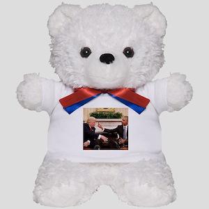 barack obama giving donald trump the mi Teddy Bear