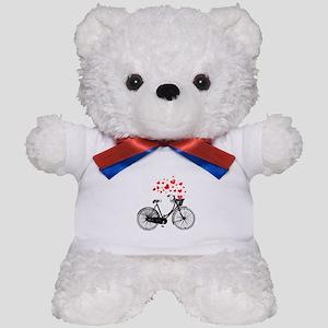 Vintage Bike with Hearts Teddy Bear