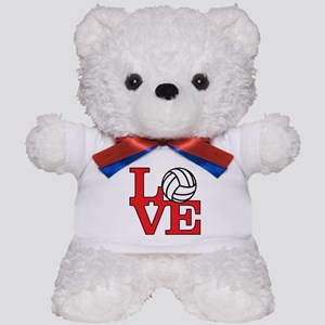 Volleyball Love - Red Teddy Bear