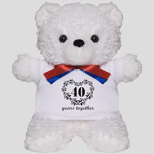 40th Anniversary Heart Teddy Bear
