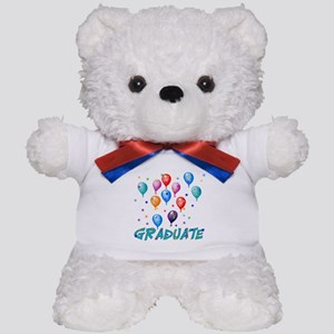 Graduation Balloons Teddy Bear