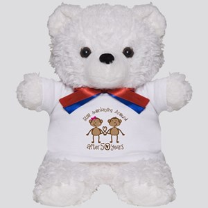 50th Anniversary Love Monkeys Teddy Bear
