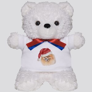 Christmas Pomeranian Teddy Bear