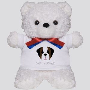 Saint Bernard Cartoon Face Teddy Bear