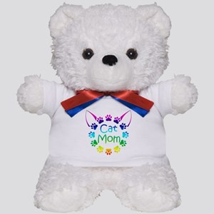 """Cat Mom"" Teddy Bear"