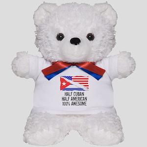 Half Cuban Half American Awesome Teddy Bear