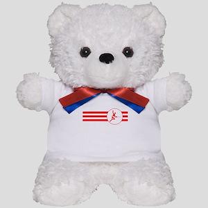 Fencer Stripes (Red) Teddy Bear