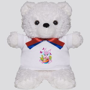 Pink Easter Bunny Teddy Bear