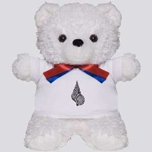 Black and white Conch shell Teddy Bear