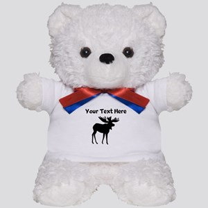 Custom Moose Silhouette Teddy Bear