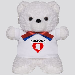 Arizona Heart Cutout Teddy Bear