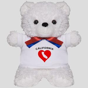 California Heart Cutout Teddy Bear