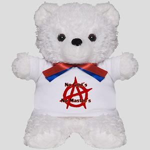 ANARCHY NO GODS NO MASTERS Teddy Bear