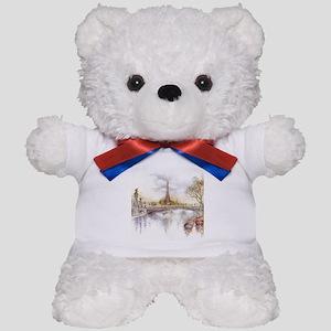 Eiffel Tower Painting Teddy Bear